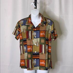 Harley-Davidson silk blouse size - 10